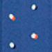 Royal Blue Dot Maternity & Nursing Dress