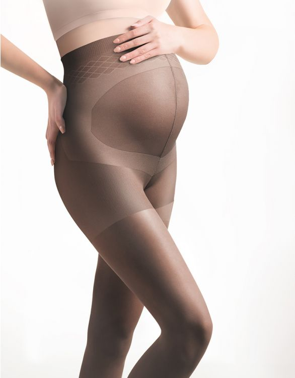 Image for 20 Denier Cocoa Brown Maternity Tights