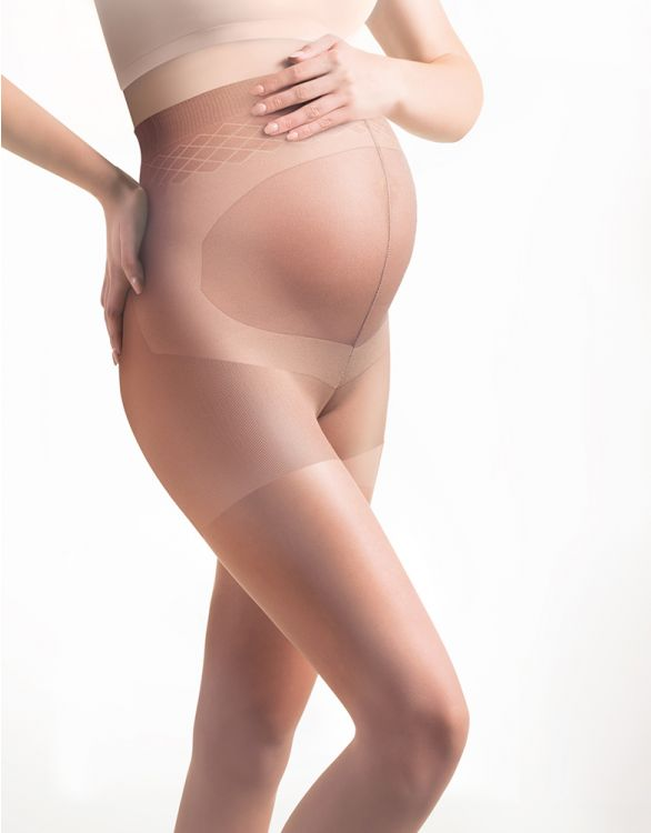 Image for 20 Denier Caramel Tan Maternity Tights