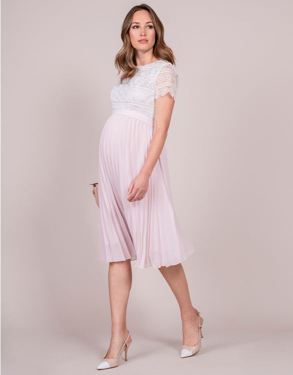Image for Blush & Ivory Sunray Pleat Maternity Dress