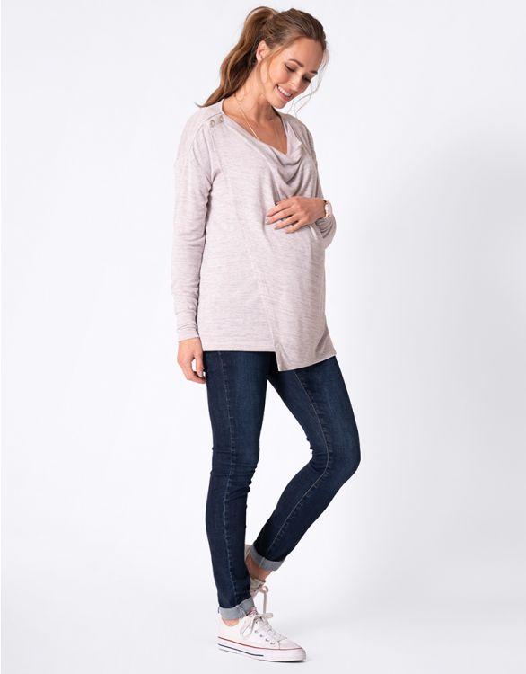 Image for Drape Front Maternity & Nursing Top