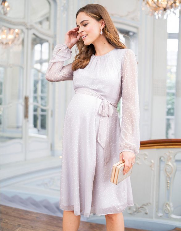 Image for Textured Chiffon Maternity Dress