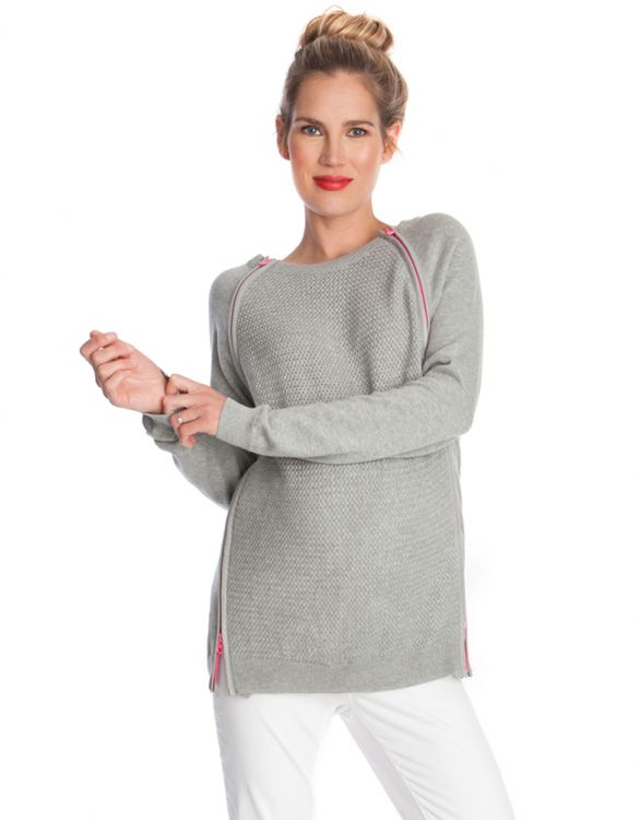 Image for Pure Cotton Double Zip Nursing Jumper