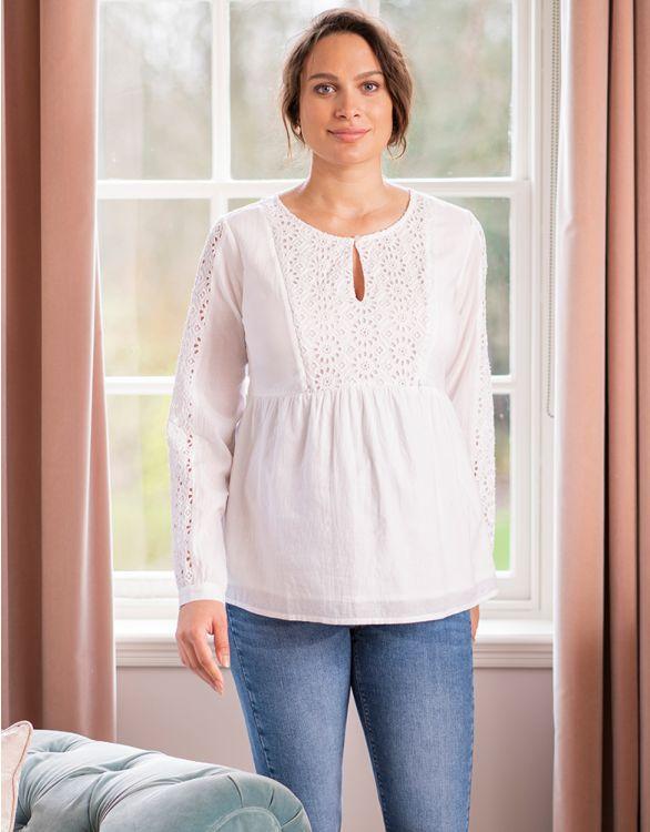 Image for Cotton Maternity & Nursing Blouse