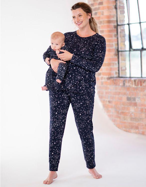 Image for Mama & Mini Star Constellation Cotton Pajamas Set