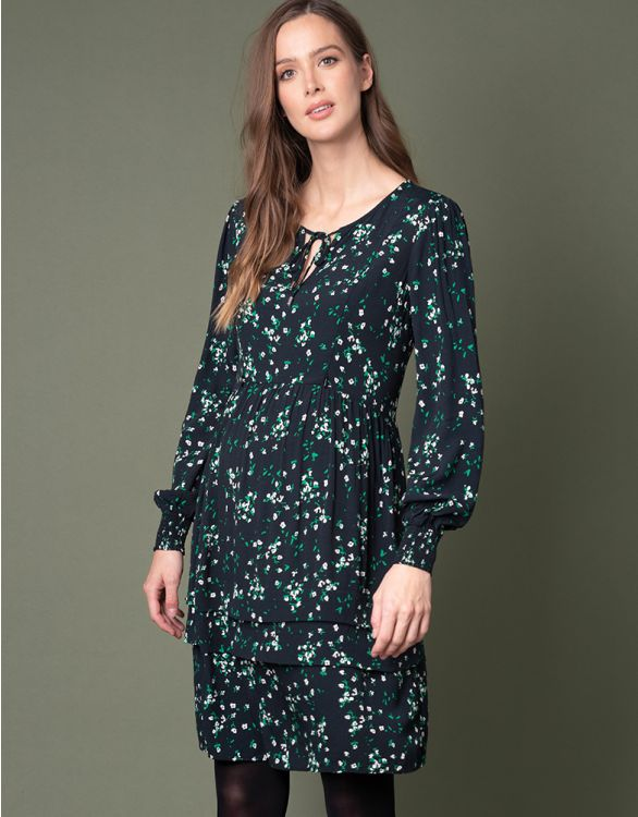 Image for Tiered Floral Maternity & Nursing Dress