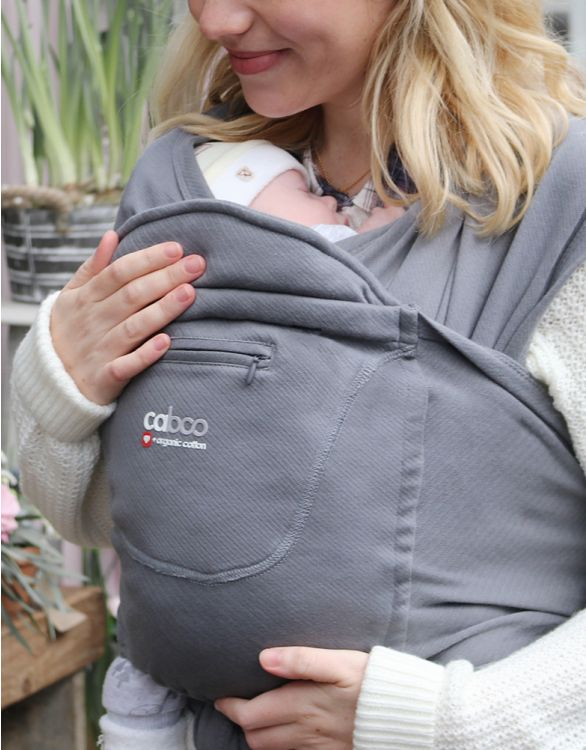 Image pour Caboo Organic Cotton Baby Carrier - Grey