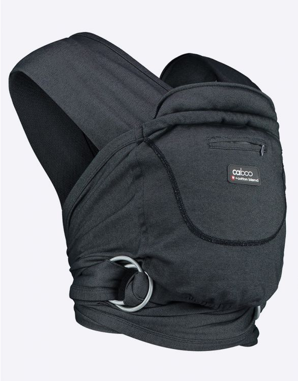 Image pour Caboo Cotton Blend Baby Carrier - Dark Grey