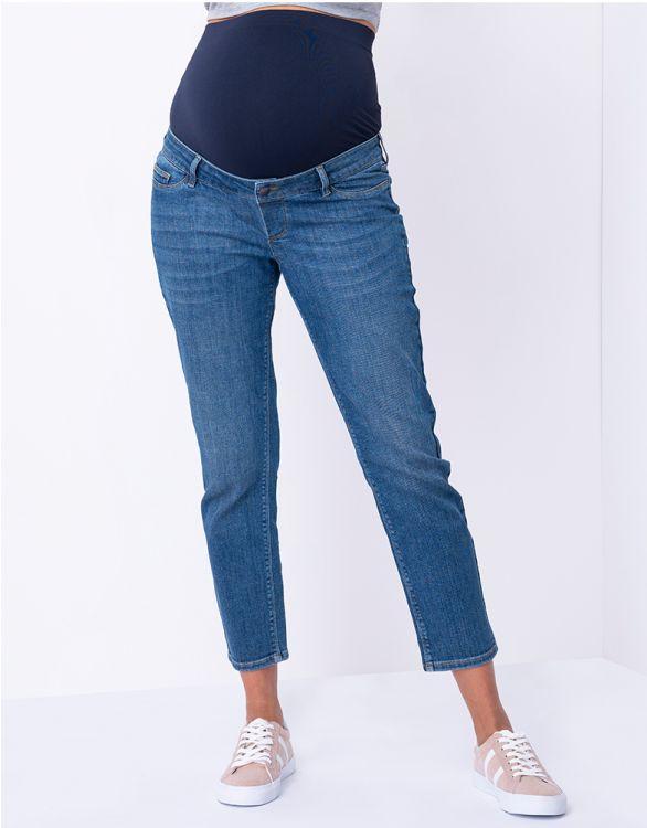Image pour Jean grossesse droit court bandeau haut  – Bleu