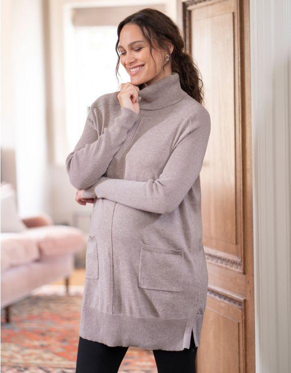 Image pour Tunique grossesse et allaitement en coton – Beige