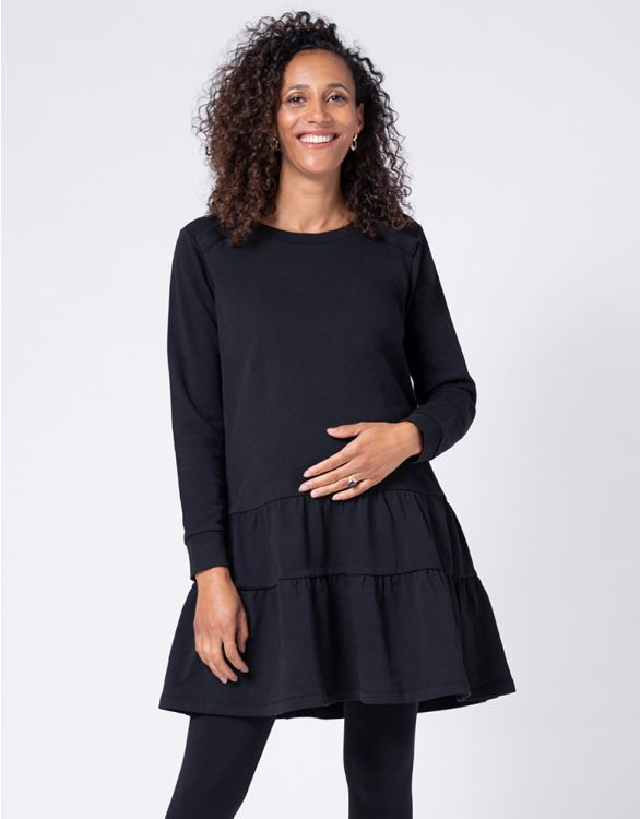 Image for Cotton Tiered Maternity & Nursing Tunic