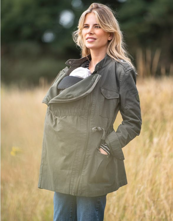 Image for Cotton Canvas 3 in 1 Maternity  Jacket