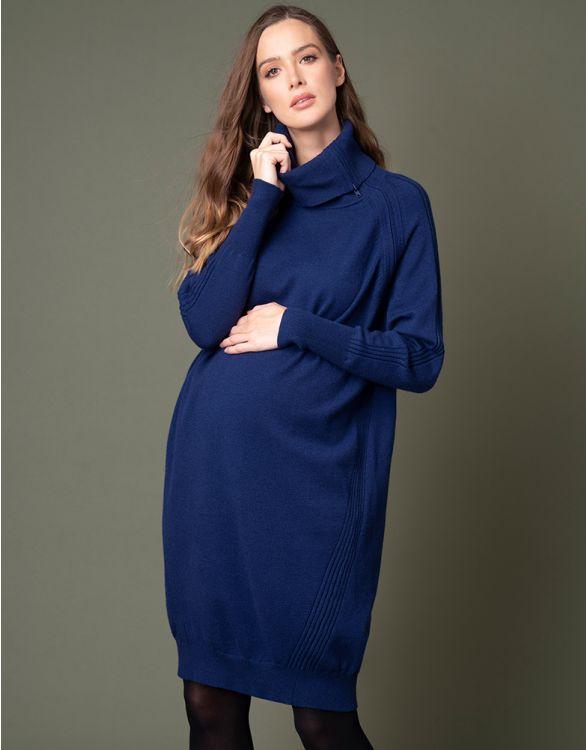 Immagine per  Vestito Premaman e Allattamento Blu in Maglia