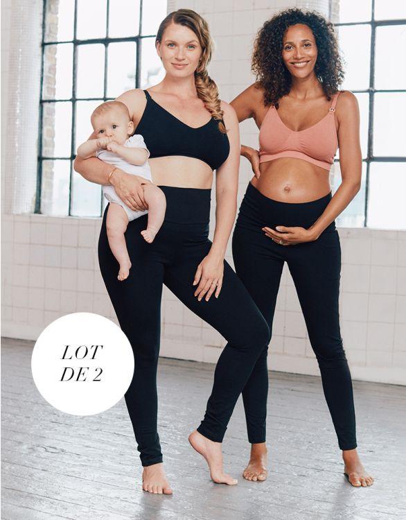 Image pour Leggings grossesse en coton – Lot de 2
