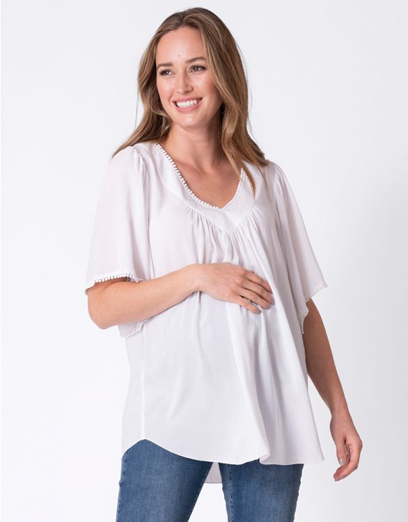Image pour Oversized White Maternity Top