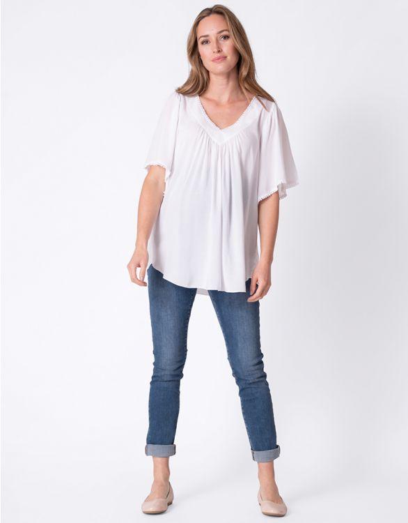 Image pour Haut grossesse ample – Blanc