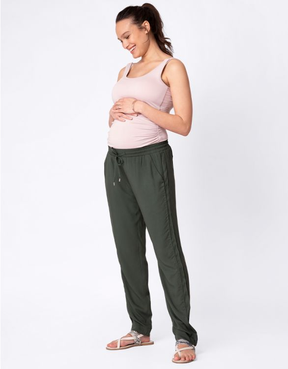 Image for Easy Fit Khaki Maternity Trousers