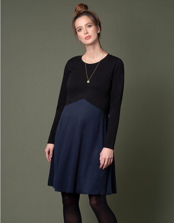 Image for Cotton & Tencel Maternity & Nursing Dress