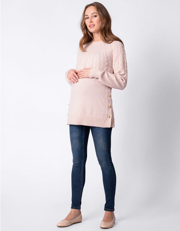 Image for Blush Pink Maternity & Nursing Jumper
