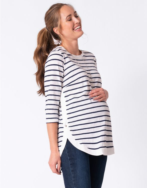Image for Cotton Breton Maternity & Nursing Top
