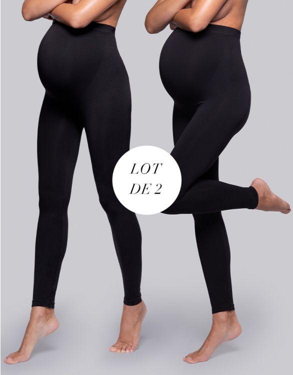 Image pour Legging grossesse sans coutures – Lot de 2