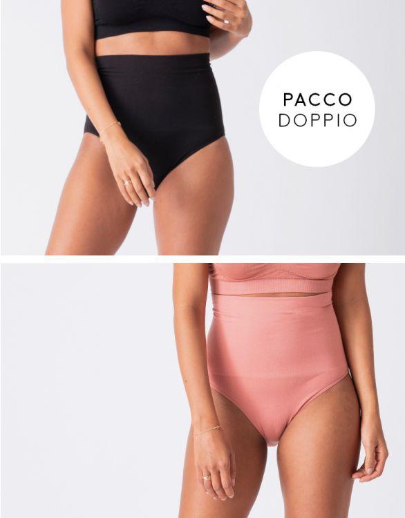 Immagine per  Slip Modellanti Post Parto – Set due Pezzi, Nero e Mattone