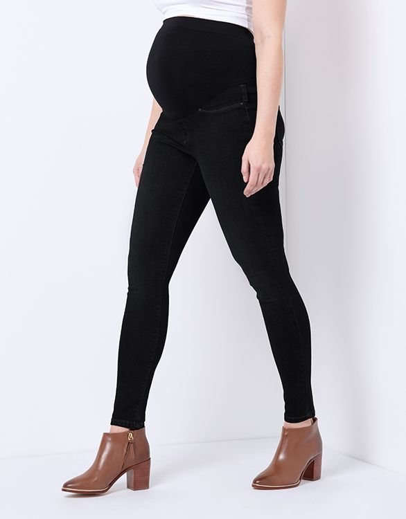 Image for Black Over Bump Super-Skinny Maternity Jeans