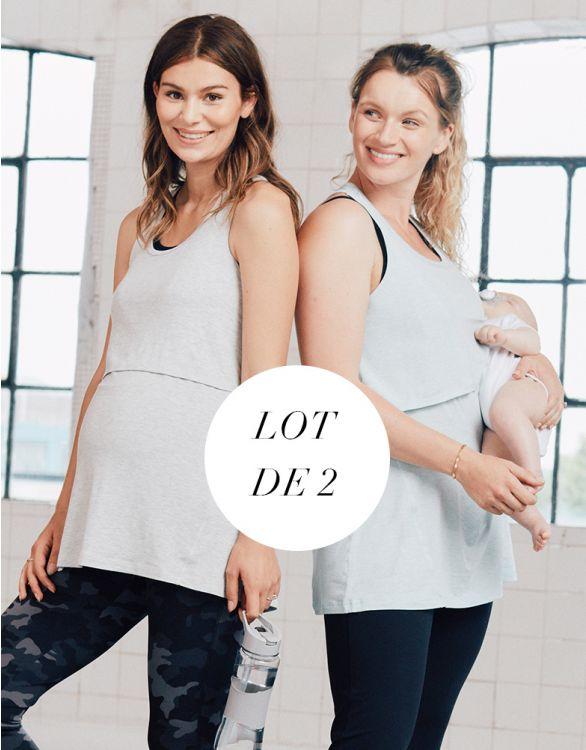 Image pour Hauts de sport grossesse et allaitement – Lot de 2