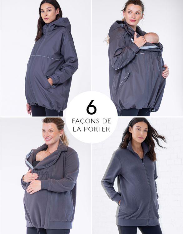 Image pour Imperméable grossesse 6 en 1 – Gris