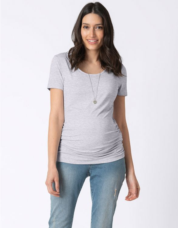 Image for Grey Marl Basic Maternity T-Shirt