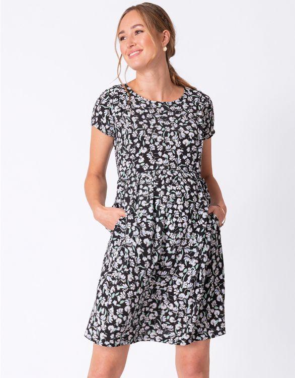 Image for Blossom Print Maternity & Nursing Dress
