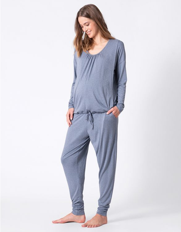 Image for Steel Blue Maternity & Nursing Loungewear Set