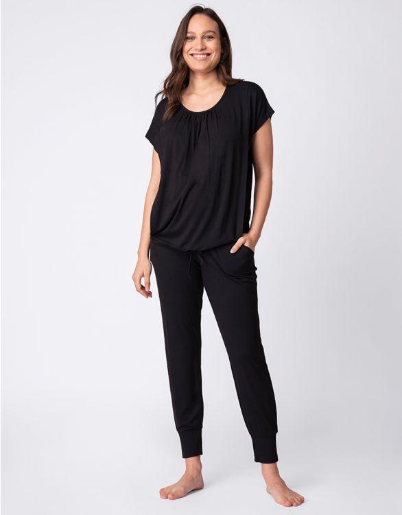 Image pour Ensemble loungewear grossesse et allaitement – Noir