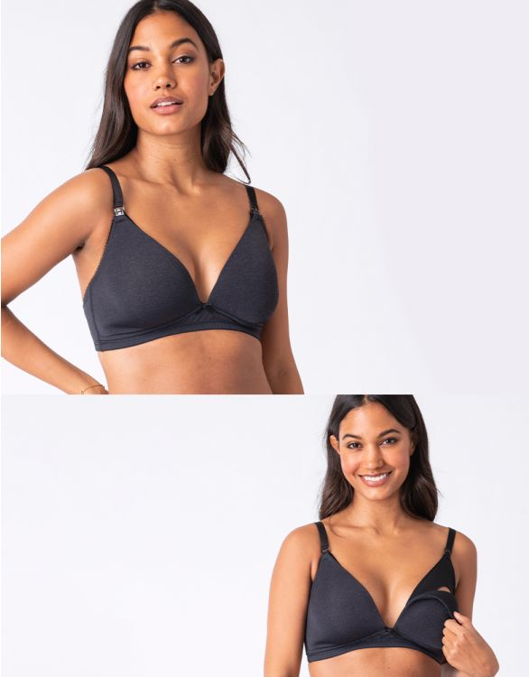 Image for Charcoal Marl Maternity & Nursing Bra