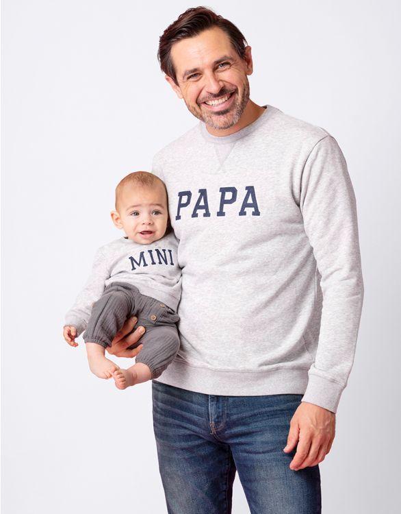 Image for Cotton Blend Papa & Mini Sweatshirts