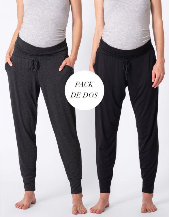 Imagen de Pantalones premamá de chandal- Pack de 2