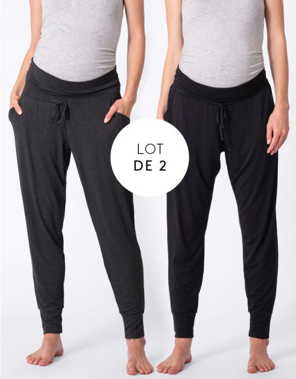 Image pour Pantalon loungewear grossesse – Lot de 2
