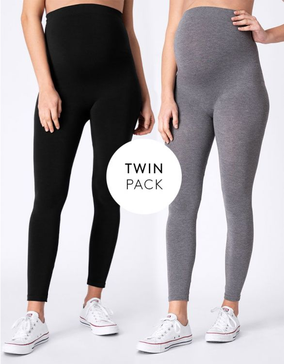 Image for Bamboo Maternity Leggings – Twin Pack