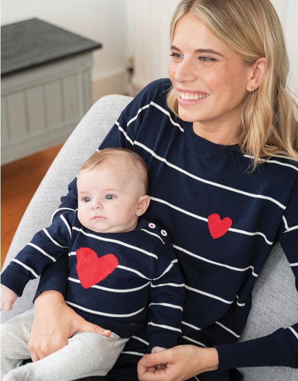 Image for Mama & Mini Nautical Cotton Sweaters