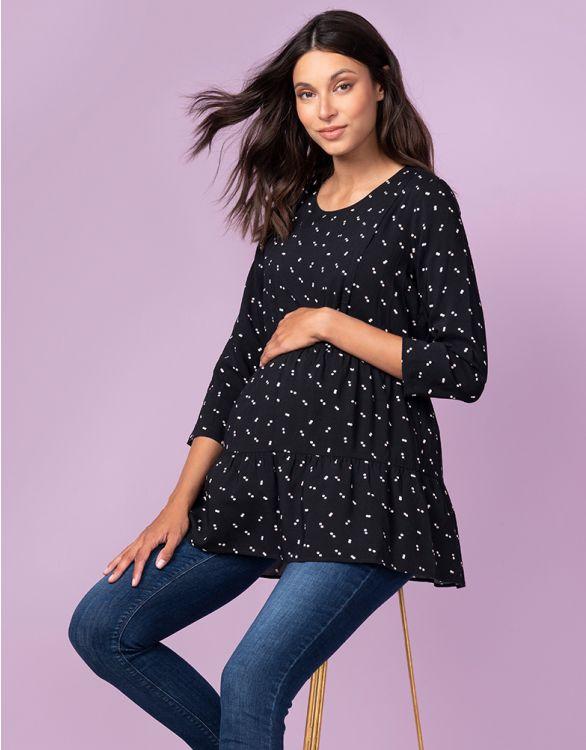 Image pour Haut grossesse et allaitement – Noir