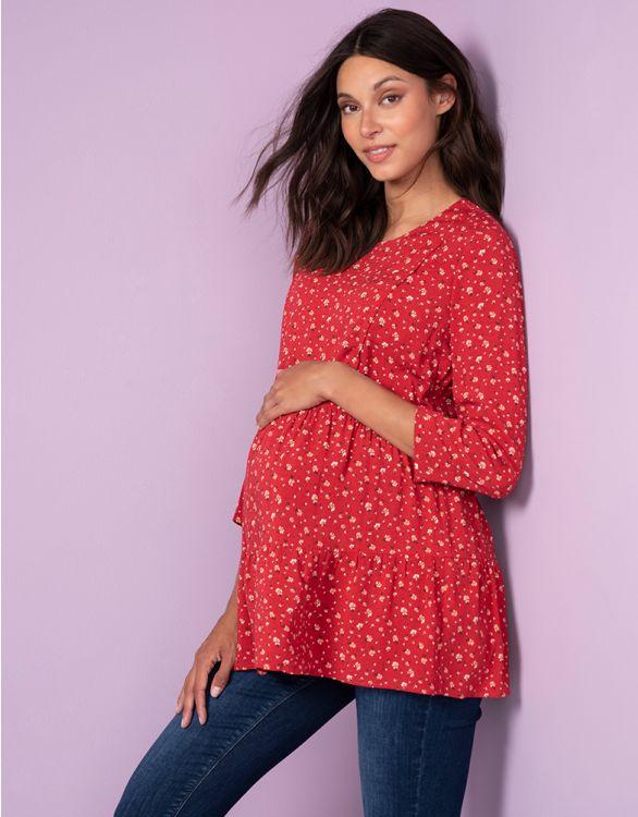 Image pour Haut grossesse et allaitement – Rouge