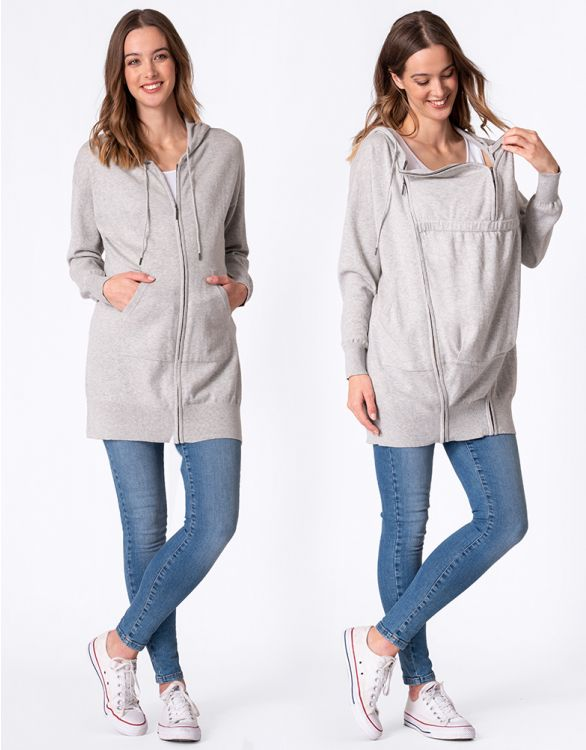 Image for Cotton Blend Knitted 3 in 1 Maternity Hoodie