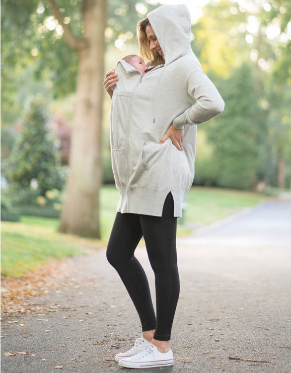 Image for Knitted 3 in 1 Maternity Hoodie