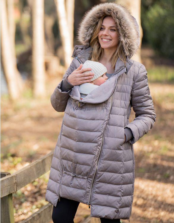 Image for Slate 3 in 1 Down Maternity Coat