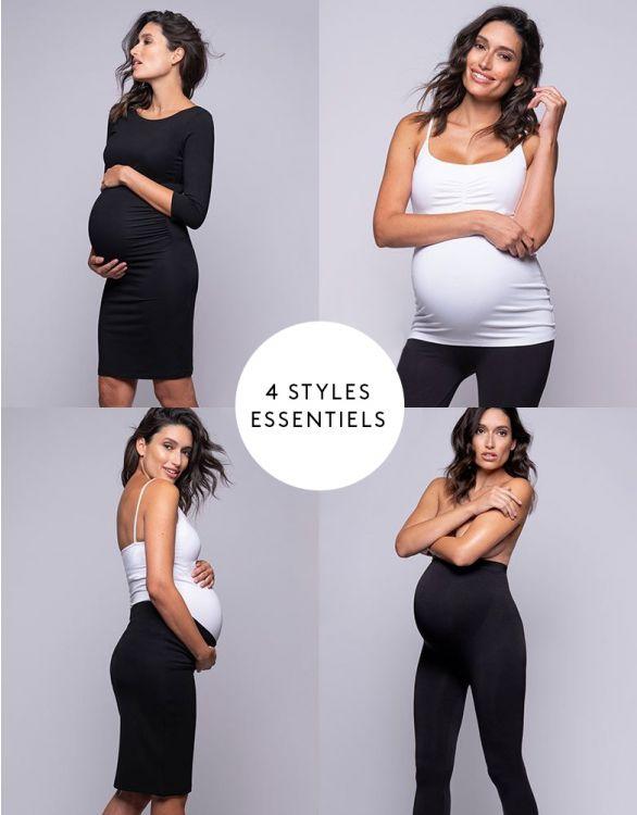 Image pour Le kit neuf mois Londres - Robe grossesse, débardeur, legging et jupe