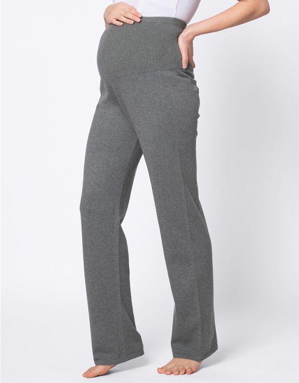 Image pour Pantalon loungewear grossesse en maille – Kaki