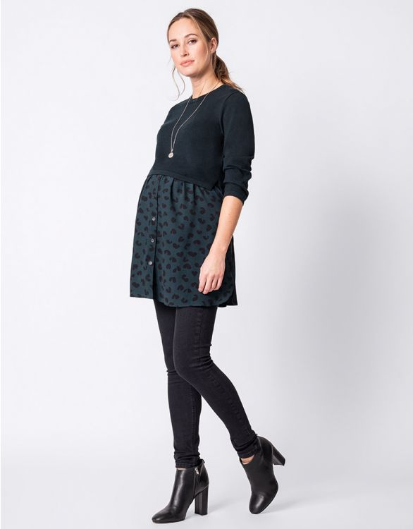 Image for Layered Maternity & Nursing Top