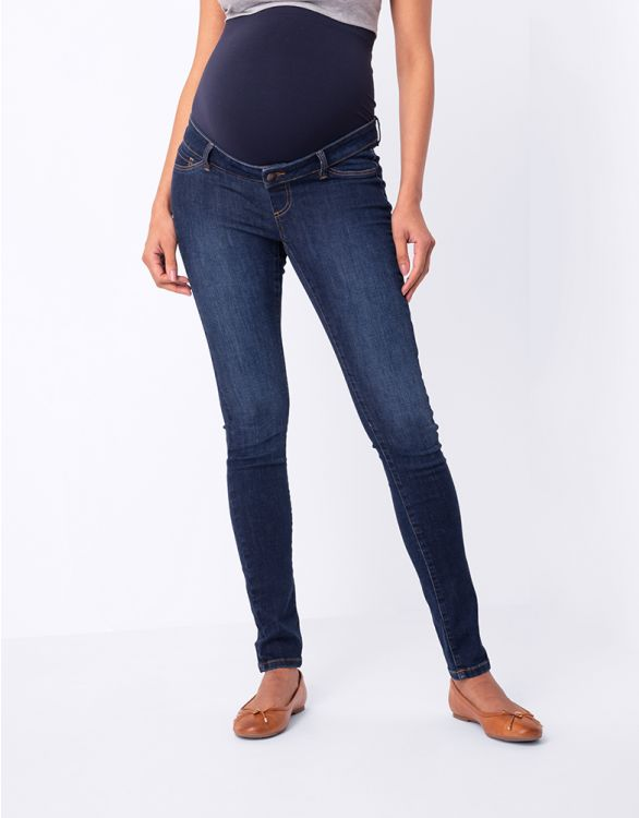 Image for Organic Cotton Over Bump Maternity Jeans