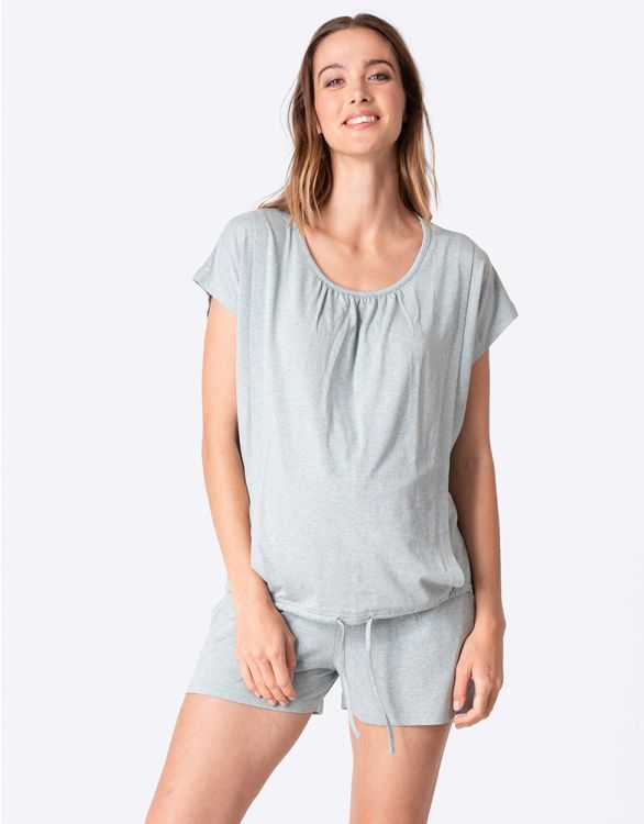 Imagen de Pijama premamá y lactancia corto