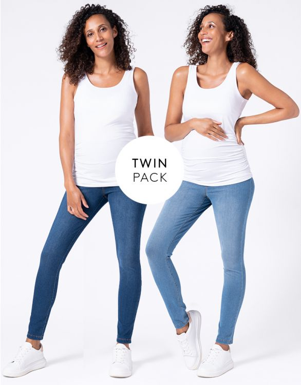 Image for Super Stretch Maternity Jeggings – Twin Pack